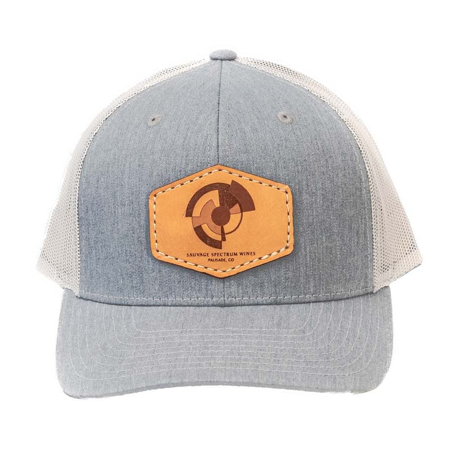 Trucker Leather Patch Hat-Charcoal/Light Charcoal
